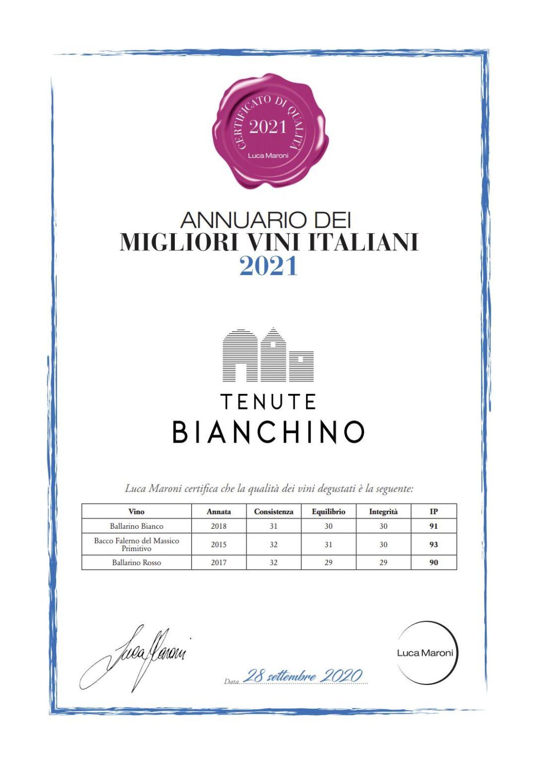 Luca Maroni Tenute Bianchino